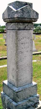 WEBB, MATTIE - Cherokee County, Kansas | MATTIE WEBB - Kansas Gravestone Photos