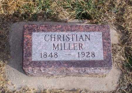 MILLER, CHRISTIAN - Cheyenne County, Kansas | CHRISTIAN MILLER - Kansas Gravestone Photos