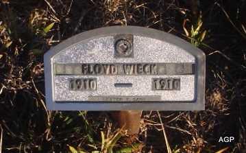 WIECK, FLOYD - Cheyenne County, Kansas | FLOYD WIECK - Kansas Gravestone Photos