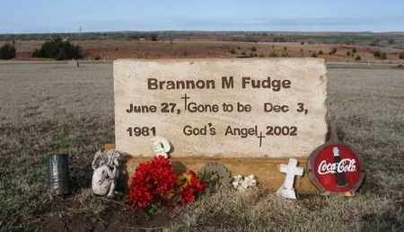 FUDGE, BRANNON MARSHALL - Clark County, Kansas | BRANNON MARSHALL FUDGE - Kansas Gravestone Photos