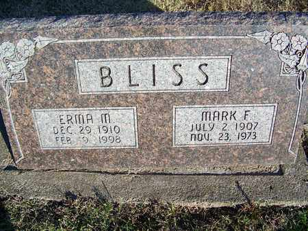 BLISS, MARK F - Cloud County, Kansas | MARK F BLISS - Kansas Gravestone Photos
