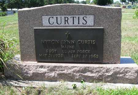 CURTIS, MYRON LYNN   (VETERAN, DNB) - Cloud County, Kansas | MYRON LYNN   (VETERAN, DNB) CURTIS - Kansas Gravestone Photos