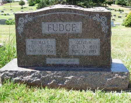 ROGERS FUDGE, OLIVE NANCY - Cloud County, Kansas | OLIVE NANCY ROGERS FUDGE - Kansas Gravestone Photos