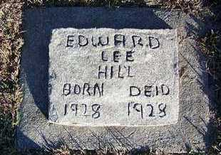 HILL, EDWARD LEE - Cloud County, Kansas | EDWARD LEE HILL - Kansas Gravestone Photos