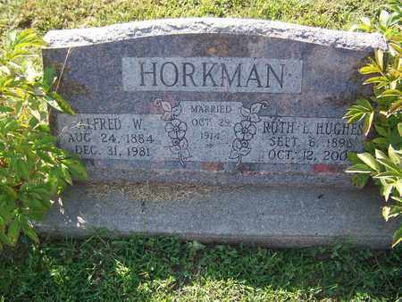 HORKMAN, ALFRED W - Cloud County, Kansas   ALFRED W HORKMAN - Kansas Gravestone Photos