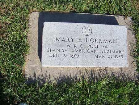 HORKMAN, MARY E - Cloud County, Kansas | MARY E HORKMAN - Kansas Gravestone Photos