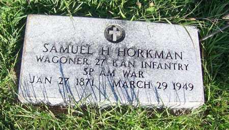 HORKMAN, SAMUEL H  (VETERAN SAW) - Cloud County, Kansas   SAMUEL H  (VETERAN SAW) HORKMAN - Kansas Gravestone Photos
