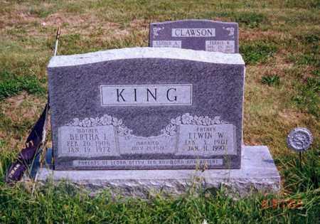 KING, ELWIN W - Cloud County, Kansas | ELWIN W KING - Kansas Gravestone Photos