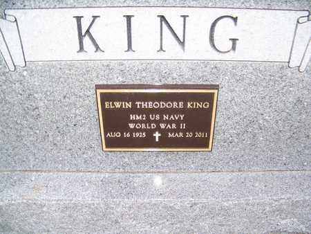KING, ELWIN THEODORE   (VETERAN WWII) - Cloud County, Kansas | ELWIN THEODORE   (VETERAN WWII) KING - Kansas Gravestone Photos