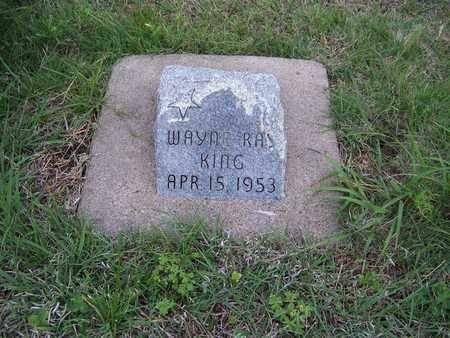 KING, WAYNE RAY - Cloud County, Kansas | WAYNE RAY KING - Kansas Gravestone Photos