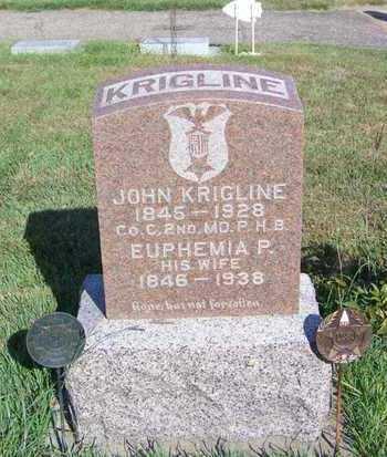 KRINGLINE, EUPHEMIA - Cloud County, Kansas | EUPHEMIA KRINGLINE - Kansas Gravestone Photos