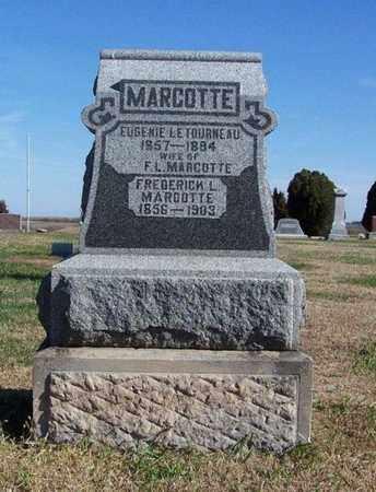 MARCOTTE, FREDERICK L - Cloud County, Kansas | FREDERICK L MARCOTTE - Kansas Gravestone Photos