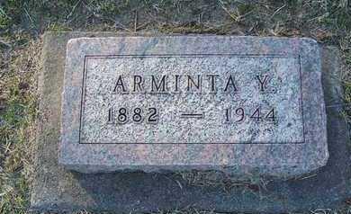 MASON, ARMINTA - Cloud County, Kansas | ARMINTA MASON - Kansas Gravestone Photos