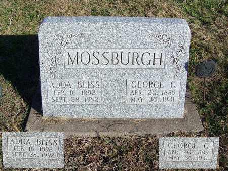 BLISS MOSSBURGH, ADDA - Cloud County, Kansas | ADDA BLISS MOSSBURGH - Kansas Gravestone Photos