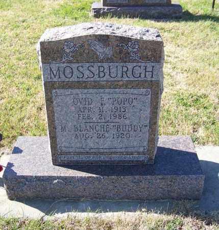 "MOSSBURGH, OVID F ""POPO"" - Cloud County, Kansas | OVID F ""POPO"" MOSSBURGH - Kansas Gravestone Photos"