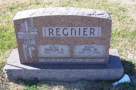 REGNIER, OPAL M - Cloud County, Kansas | OPAL M REGNIER - Kansas Gravestone Photos
