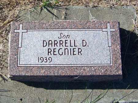 REGNIER, DARRELL D - Cloud County, Kansas   DARRELL D REGNIER - Kansas Gravestone Photos