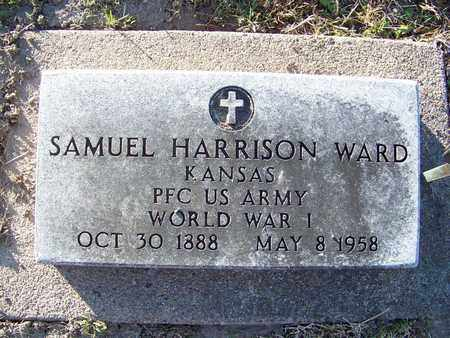 WARD, SAMUEL HARRISON  (VETERAN WWI) - Cloud County, Kansas | SAMUEL HARRISON  (VETERAN WWI) WARD - Kansas Gravestone Photos