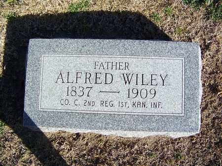 WILEY, ALFRED, SR   (VETERAN UNION) - Cloud County, Kansas | ALFRED, SR   (VETERAN UNION) WILEY - Kansas Gravestone Photos
