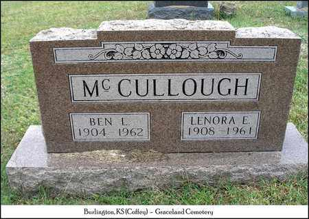 MCCULLOUGH, BEN L - Coffey County, Kansas | BEN L MCCULLOUGH - Kansas Gravestone Photos