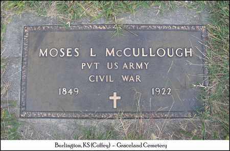 MCCULLOUGH, MOSES L   (VETERAN UNION) - Coffey County, Kansas | MOSES L   (VETERAN UNION) MCCULLOUGH - Kansas Gravestone Photos