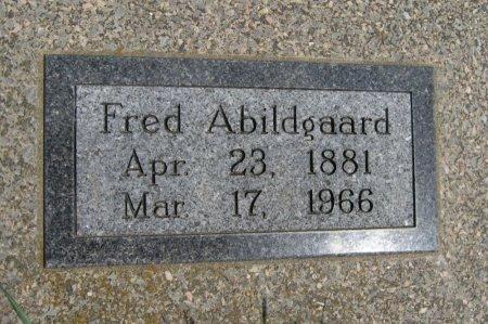ABILDGAARD, FRED - Cowley County, Kansas   FRED ABILDGAARD - Kansas Gravestone Photos