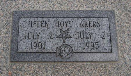 HOYT AKERS, HELEN - Cowley County, Kansas | HELEN HOYT AKERS - Kansas Gravestone Photos