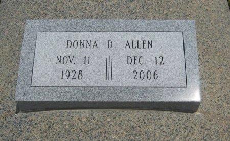 ALLEN, DONNA D - Cowley County, Kansas   DONNA D ALLEN - Kansas Gravestone Photos