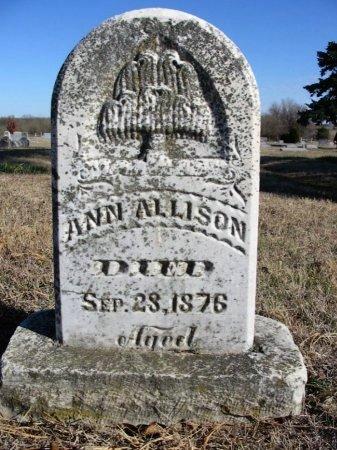 ALLISON, ANN - Cowley County, Kansas | ANN ALLISON - Kansas Gravestone Photos