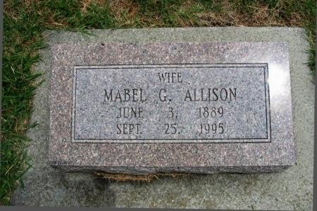 ALLISON, MABEL G - Cowley County, Kansas | MABEL G ALLISON - Kansas Gravestone Photos