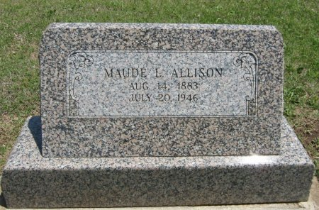 ALLISON, MAUDE L - Cowley County, Kansas   MAUDE L ALLISON - Kansas Gravestone Photos