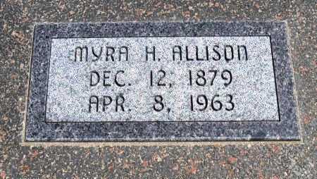 ALLISON, MYRA PEARL - Cowley County, Kansas   MYRA PEARL ALLISON - Kansas Gravestone Photos