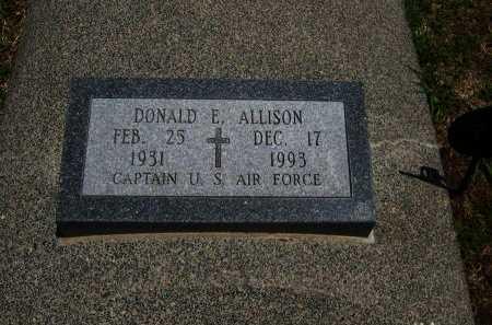 ALLISON, DONALD E  (VETERAN) - Cowley County, Kansas | DONALD E  (VETERAN) ALLISON - Kansas Gravestone Photos