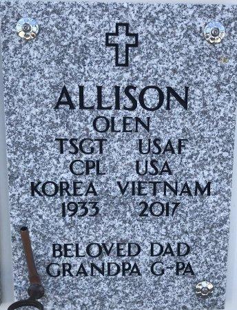 ALLISON, OLEN (VETERAN 2 WARS) - Cowley County, Kansas   OLEN (VETERAN 2 WARS) ALLISON - Kansas Gravestone Photos
