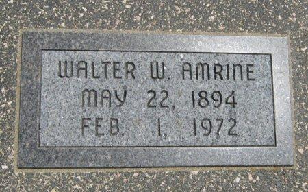 AMERINE, WALTER WILLIAM (VETERAN WWI) - Cowley County, Kansas   WALTER WILLIAM (VETERAN WWI) AMERINE - Kansas Gravestone Photos