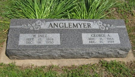 ANGLEMYER, WILLIE INEZ - Cowley County, Kansas | WILLIE INEZ ANGLEMYER - Kansas Gravestone Photos