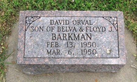 BARKMAN, DAVID ORVAL - Cowley County, Kansas   DAVID ORVAL BARKMAN - Kansas Gravestone Photos