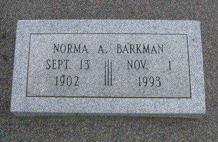 BARKMAN, NORMA A - Cowley County, Kansas | NORMA A BARKMAN - Kansas Gravestone Photos