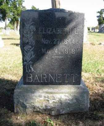 BARNETT, ELIZABETH E - Cowley County, Kansas | ELIZABETH E BARNETT - Kansas Gravestone Photos