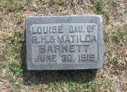 BARNETT, LOUISE  - Cowley County, Kansas   LOUISE  BARNETT - Kansas Gravestone Photos