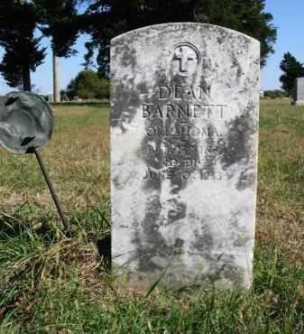 BARNETT, DEAN (VETERAN WWI) - Cowley County, Kansas   DEAN (VETERAN WWI) BARNETT - Kansas Gravestone Photos