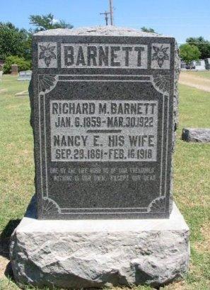 BARNETT, NANCY ELIZABETH - Cowley County, Kansas | NANCY ELIZABETH BARNETT - Kansas Gravestone Photos