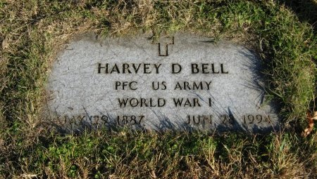 BELL, HARVEY DANIEL (VETERAN WWI) - Cowley County, Kansas   HARVEY DANIEL (VETERAN WWI) BELL - Kansas Gravestone Photos