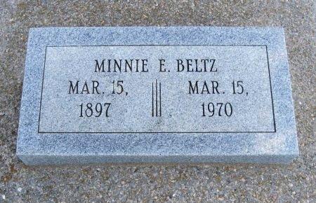 BELTZ, MINNIE ESTHER - Cowley County, Kansas   MINNIE ESTHER BELTZ - Kansas Gravestone Photos