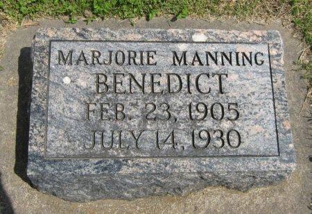 BENEDICT, MARJORIE MANNING - Cowley County, Kansas   MARJORIE MANNING BENEDICT - Kansas Gravestone Photos