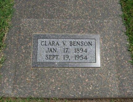 DUCKWORTH BENSON, CLARA VIRGINIA - Cowley County, Kansas   CLARA VIRGINIA DUCKWORTH BENSON - Kansas Gravestone Photos