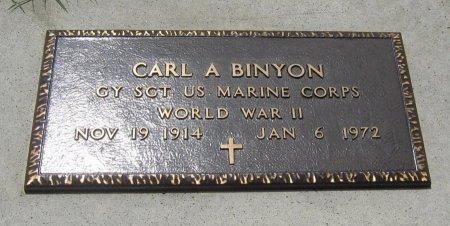 BINYON, CARL A (VETERAN WWII) - Cowley County, Kansas   CARL A (VETERAN WWII) BINYON - Kansas Gravestone Photos