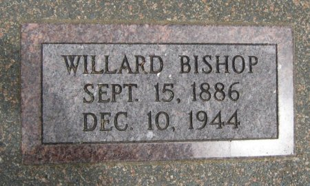 BISHOP, WILLARD - Cowley County, Kansas | WILLARD BISHOP - Kansas Gravestone Photos