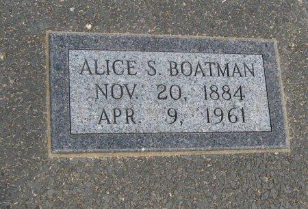 BOATMAN, ALICE S - Cowley County, Kansas   ALICE S BOATMAN - Kansas Gravestone Photos