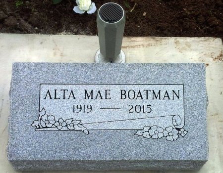 BOATMAN, ALTA MAE - Cowley County, Kansas | ALTA MAE BOATMAN - Kansas Gravestone Photos